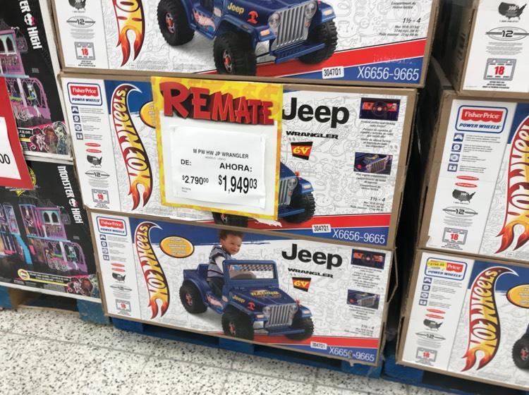 Bodega Aurrerá Margaritas: Jeep Montable Power Wheels a $1,949.03