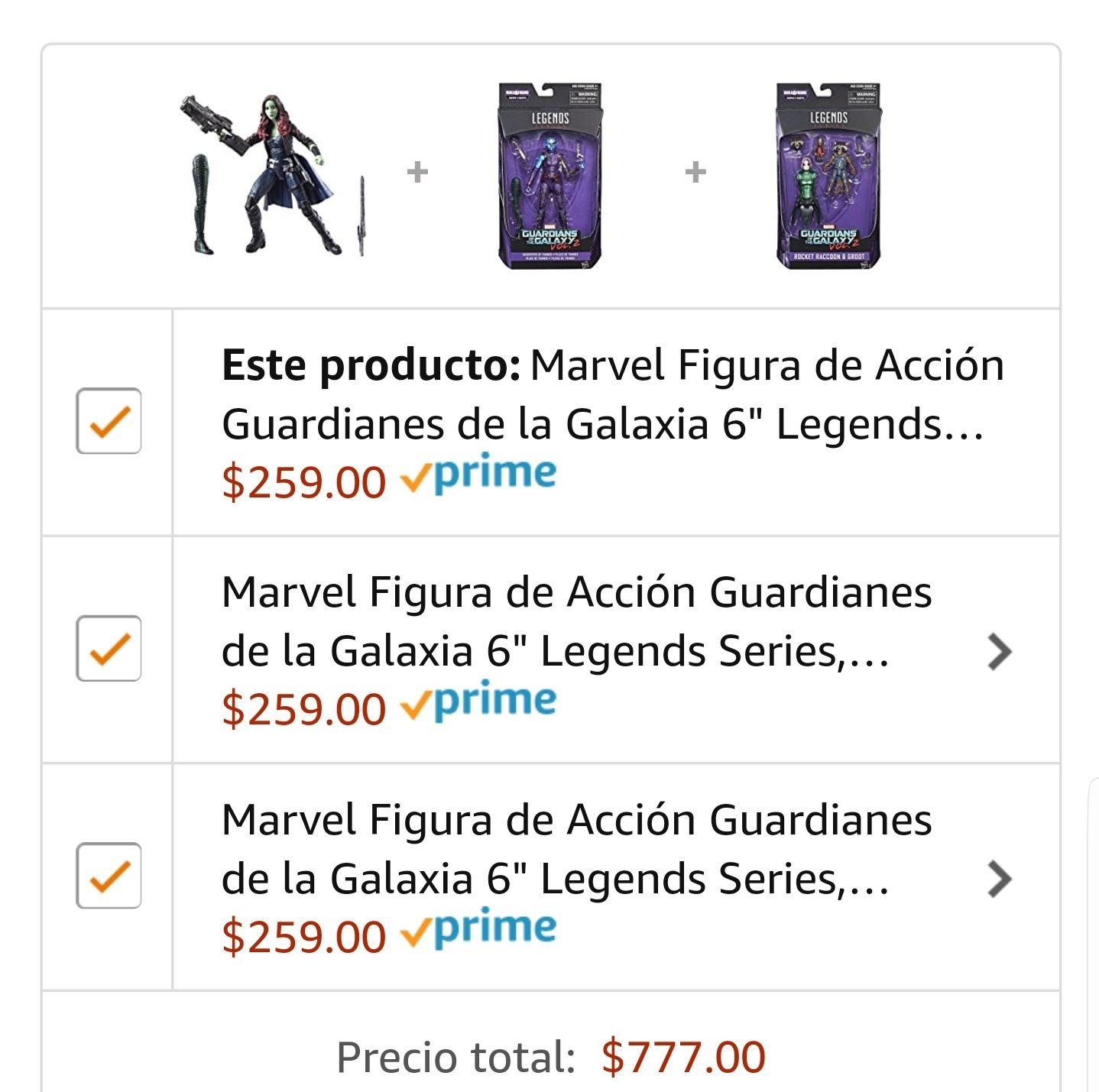 """Amazon: Marvel Legends Guardianes de la Galaxia 6"""""""