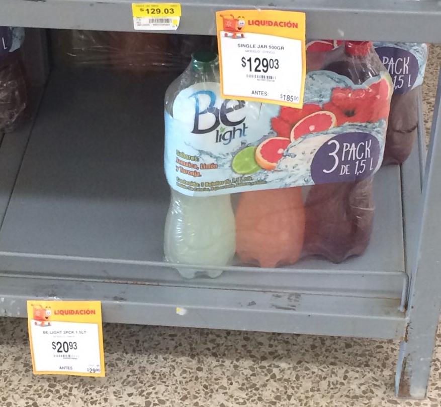 Walmart Cristal Villahermosa: 3 pack Belight 1.5 lts, Juguete Star Wars y mas
