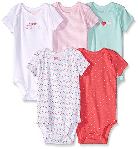 Amazon: Carter's Body para Bebé-Niñas, Multicolor, (Paquete de 5 Piezas)
