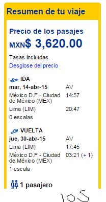 OMG! Vuelo redondo MEx - Lima desde 3620