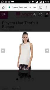Liverpool: playera blanca that's it en $49