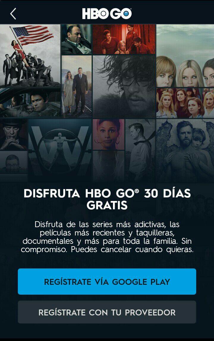 Google play:30 días gratis de HBO GO al registrarse por este medio