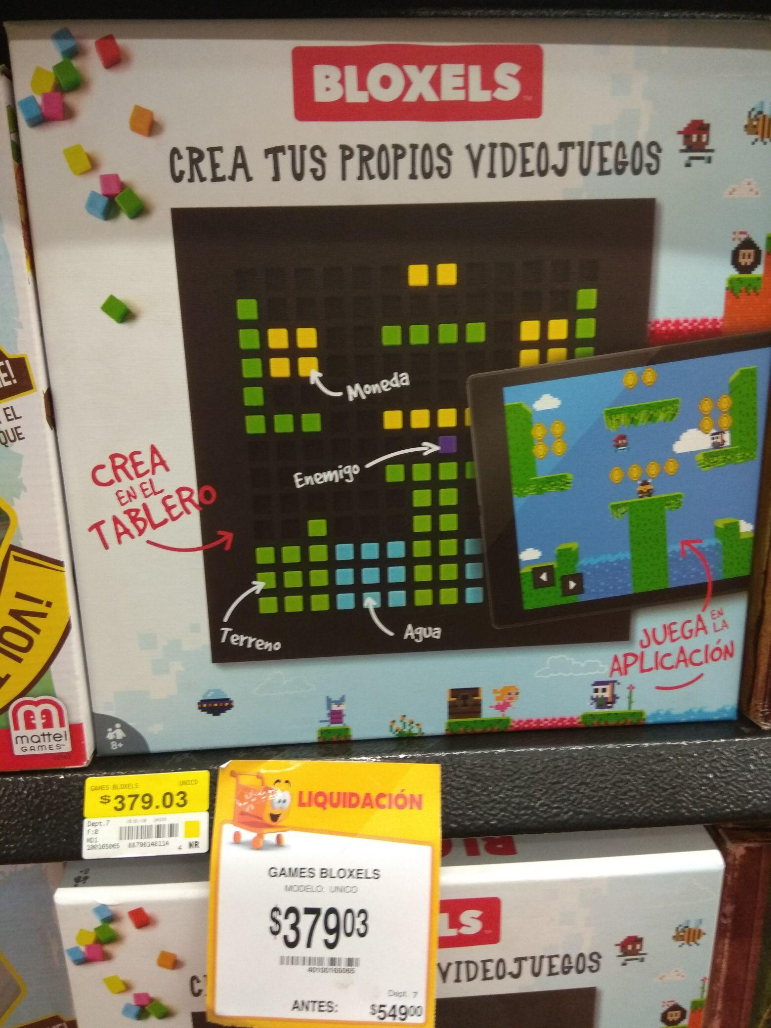Walmart Puebla San Manuel: Liquidación Bloxels de Mattel