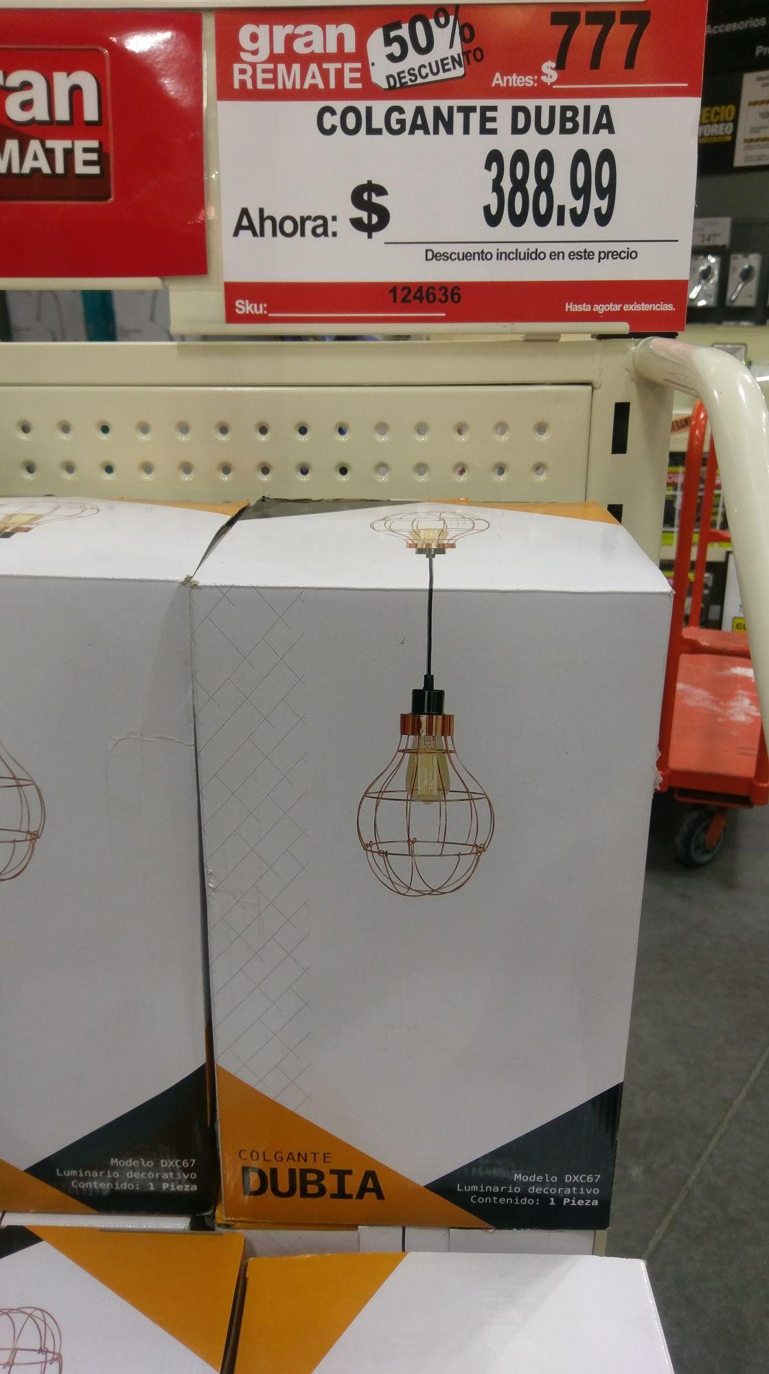 Home Depot: Lámpara colgante DXC67 a $389