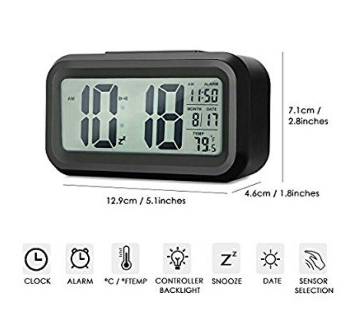 Amazon: Reloj digital despertador INLIFE a $169