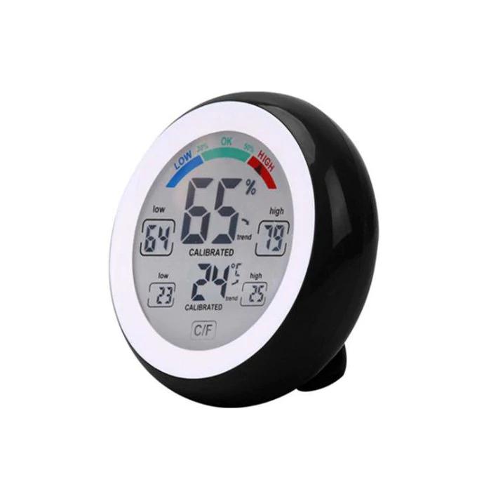 Gamiss: medidor de tempratura, humedad digital touchescreen