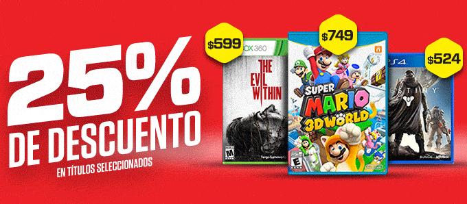 Gamers: 25% de descuento en muchos juegos en tienda online