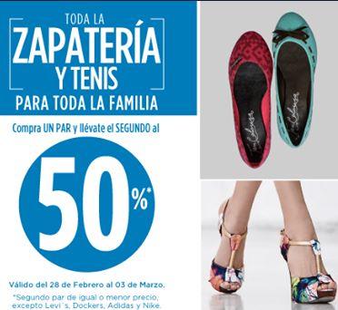 Suburbia: segundo a mitad de precio en zapatos y tenis