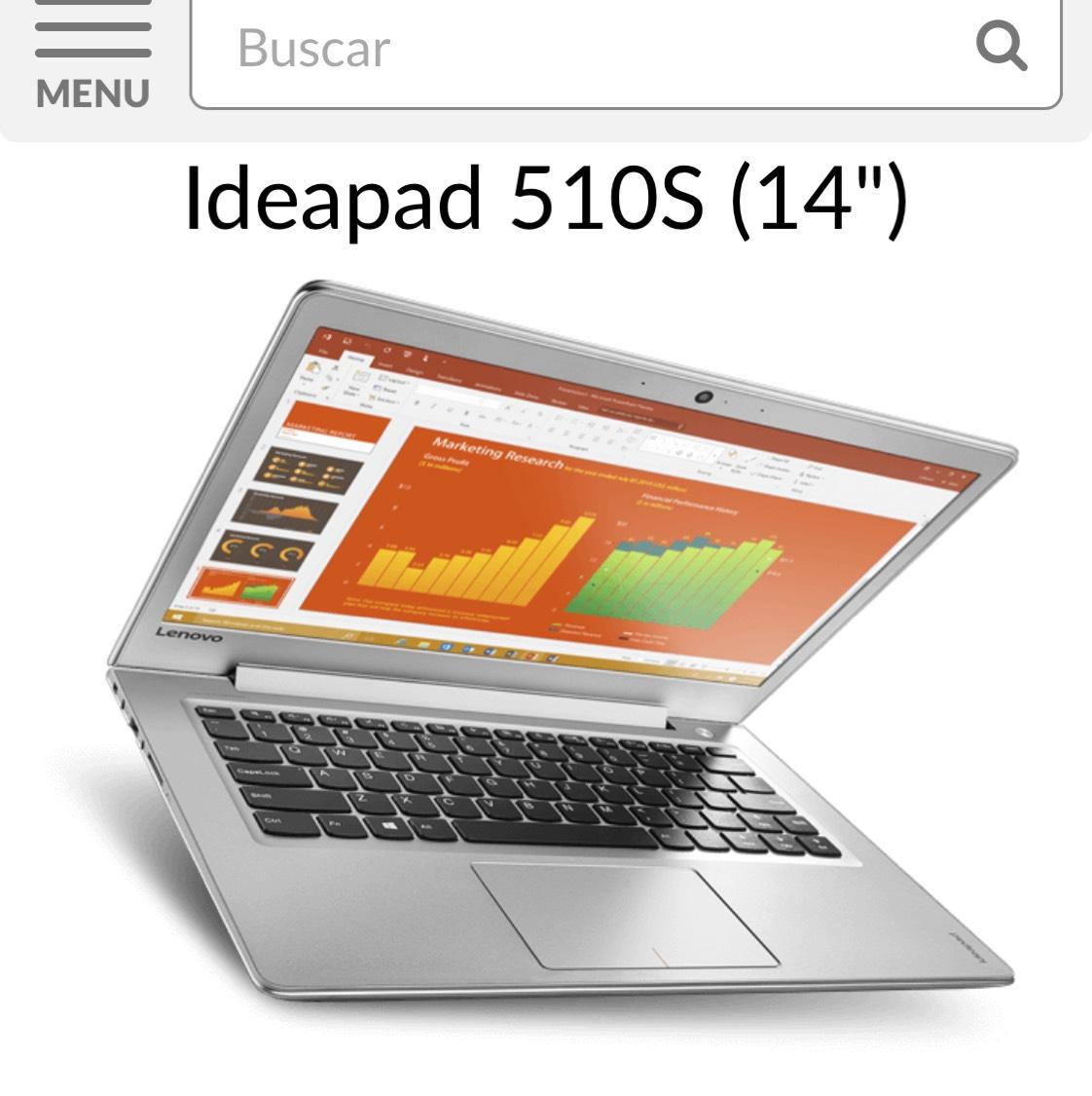 Tienda Telmex: Laptop Lenovo 510S Core i7, 8GB RAM, 1TB disco duro (precio a clientes Infinitum)