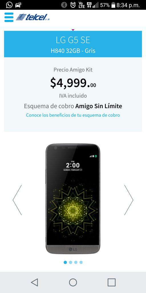 Telcel: LG h840 G5 se