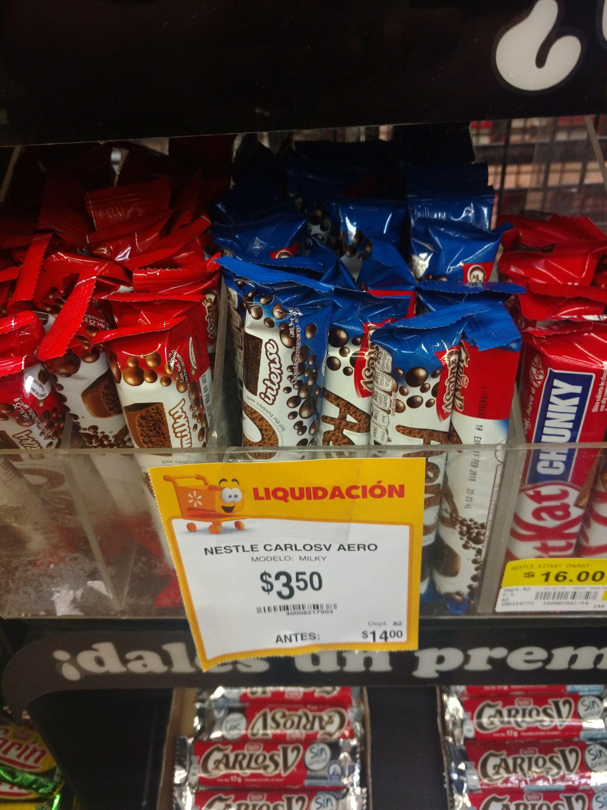 Walmart tuxtla ote: Chocolates Aero Carlos V $3.50