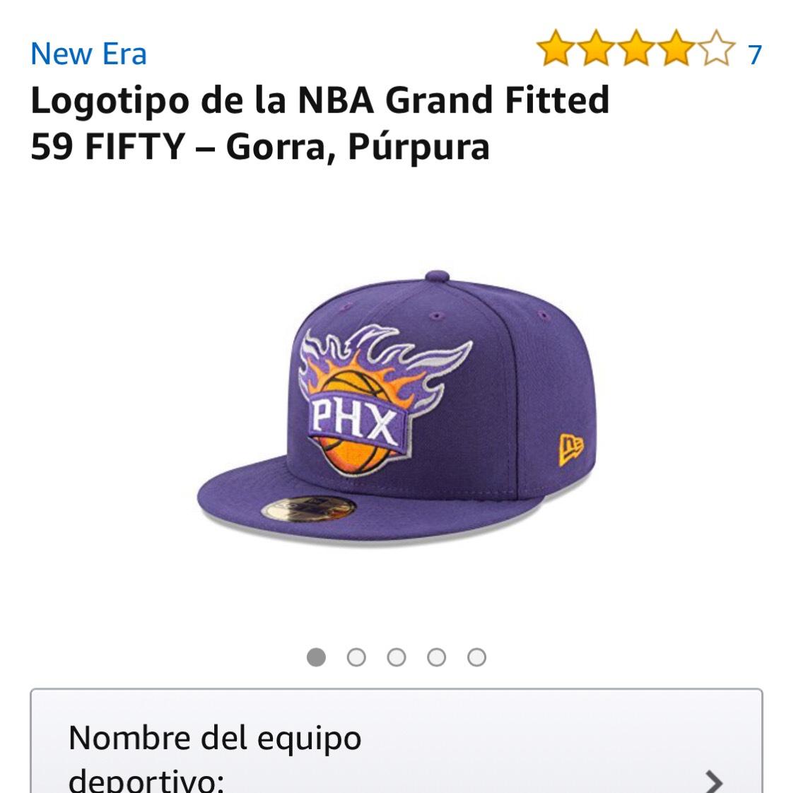 Amazon: Gorra New Era NBA Phoenix Suns