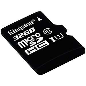 Amazon: Kingston Digital 32GB microSDHC Class 10 UHS-I 45MB/s Read Card with SD Adapter (SDC10G2/32GB)