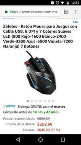Amazon: mouse gaming zelote aplica prime