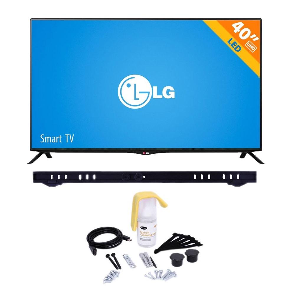 Walmart: Pantalla LED 40 Pulgadas LG 120 Hz 2160p 4K UHD Smart más Kit con soporte fijo y accesorios para pantallas a $9,490