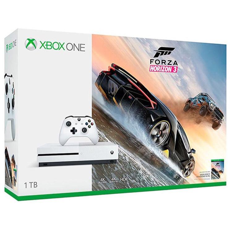 Elektra: Consola Xbox One S 1TB + Videojuego Forza Horizon 3