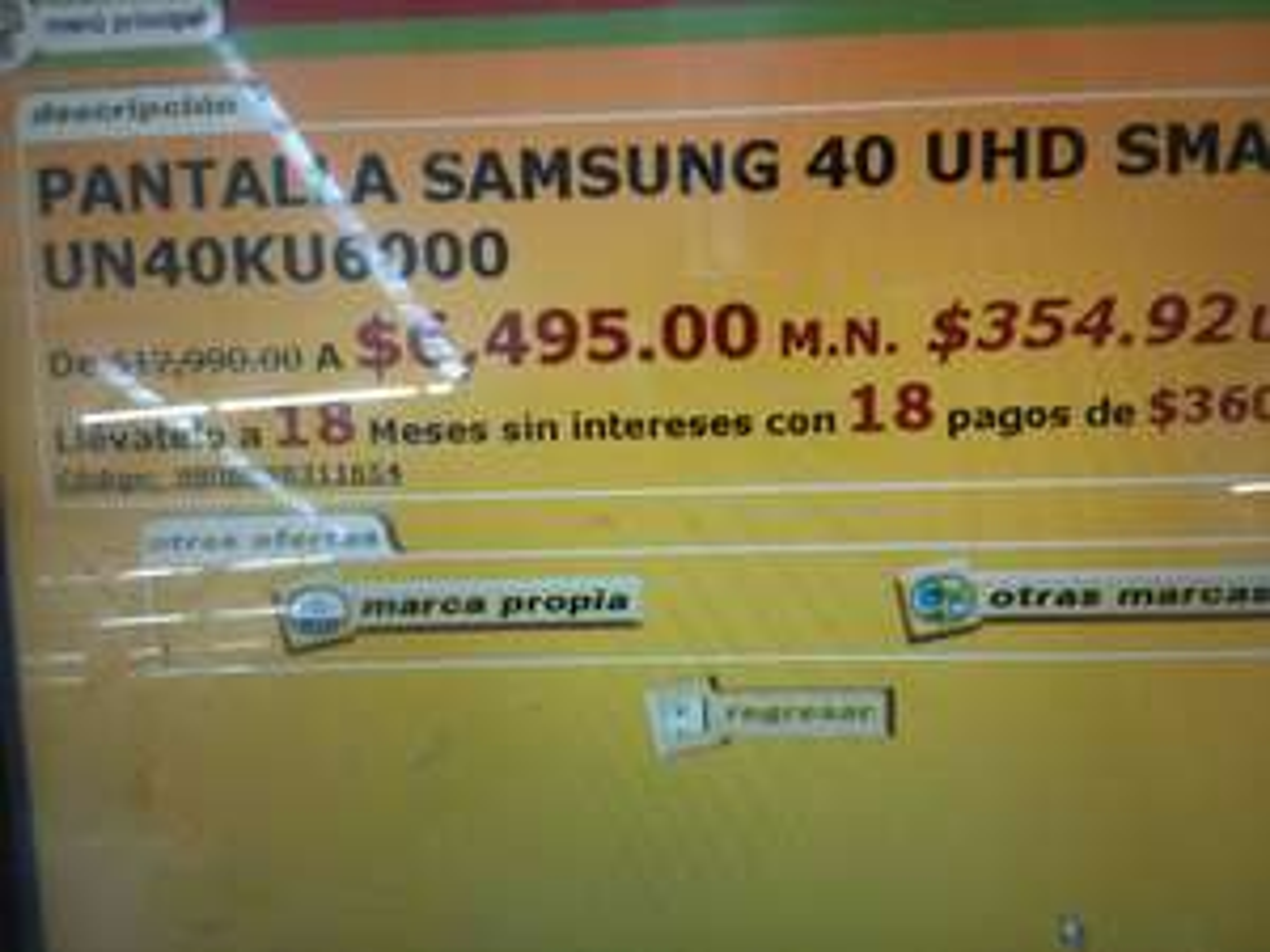 "Soriana pantalla Samsung 40"" uhd"