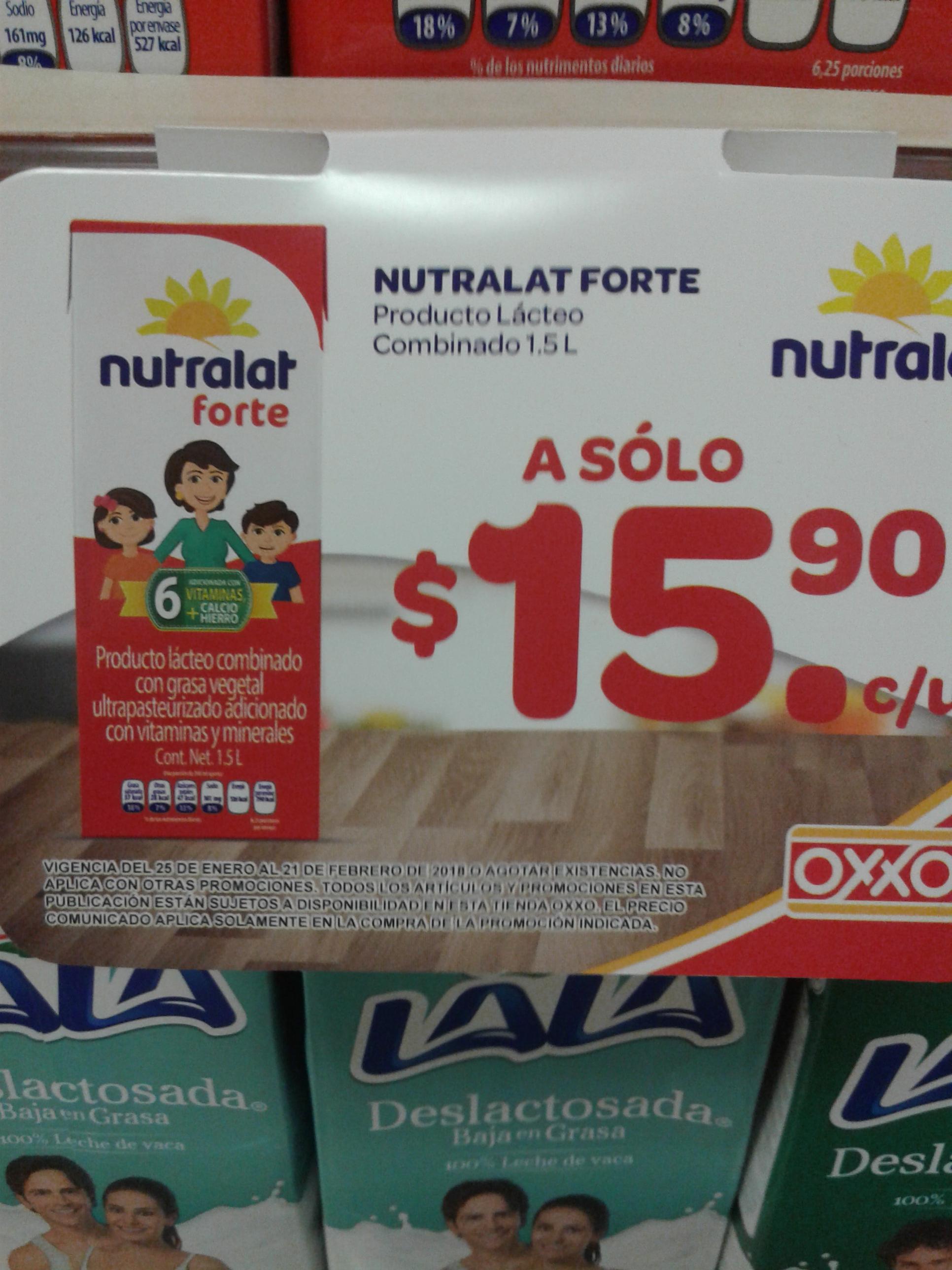 Oxxo -Nutralat forte de 1.5 lts