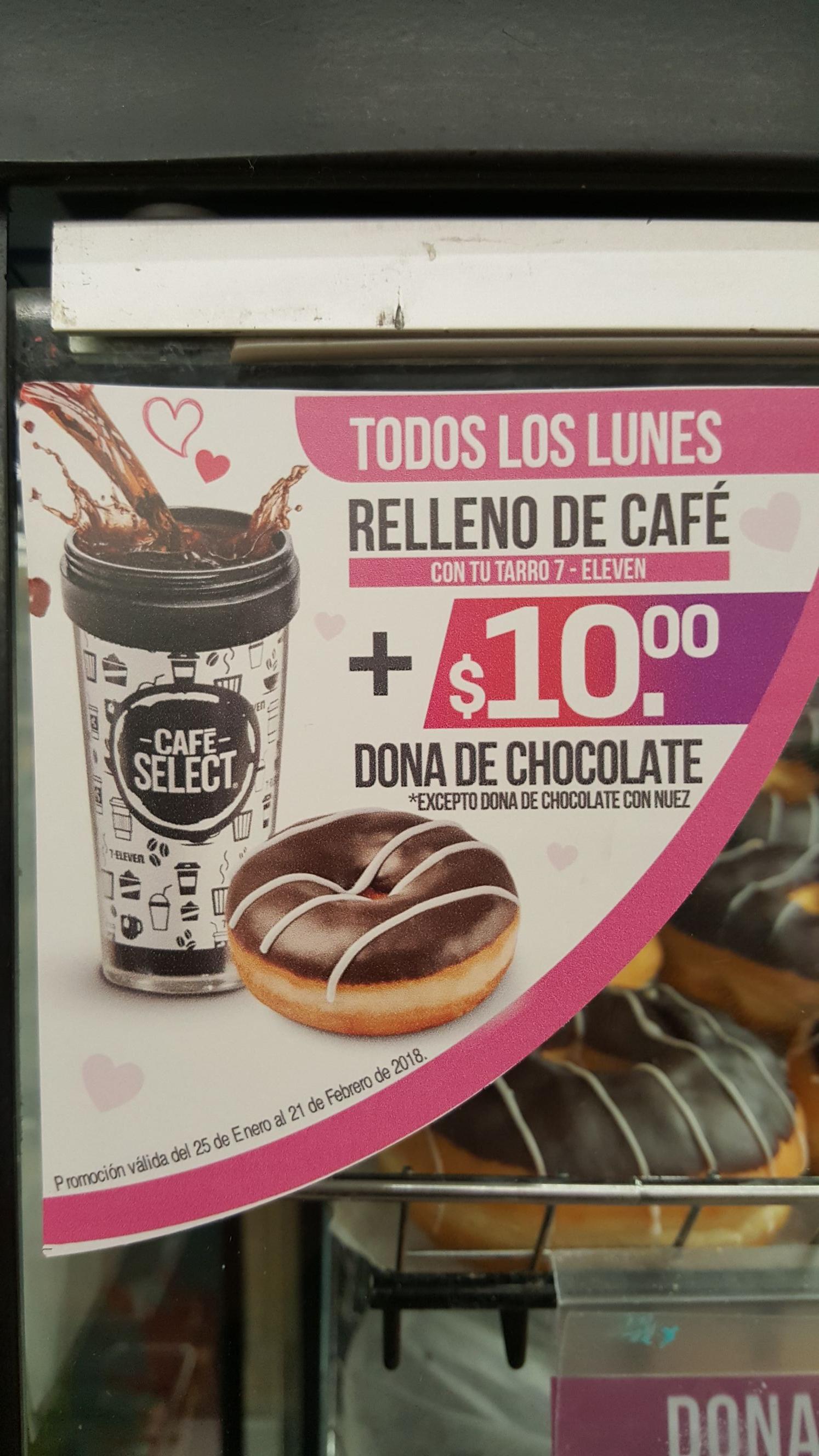7-Eleven: Relleno de Café + $10 dona de chocolate los lunes