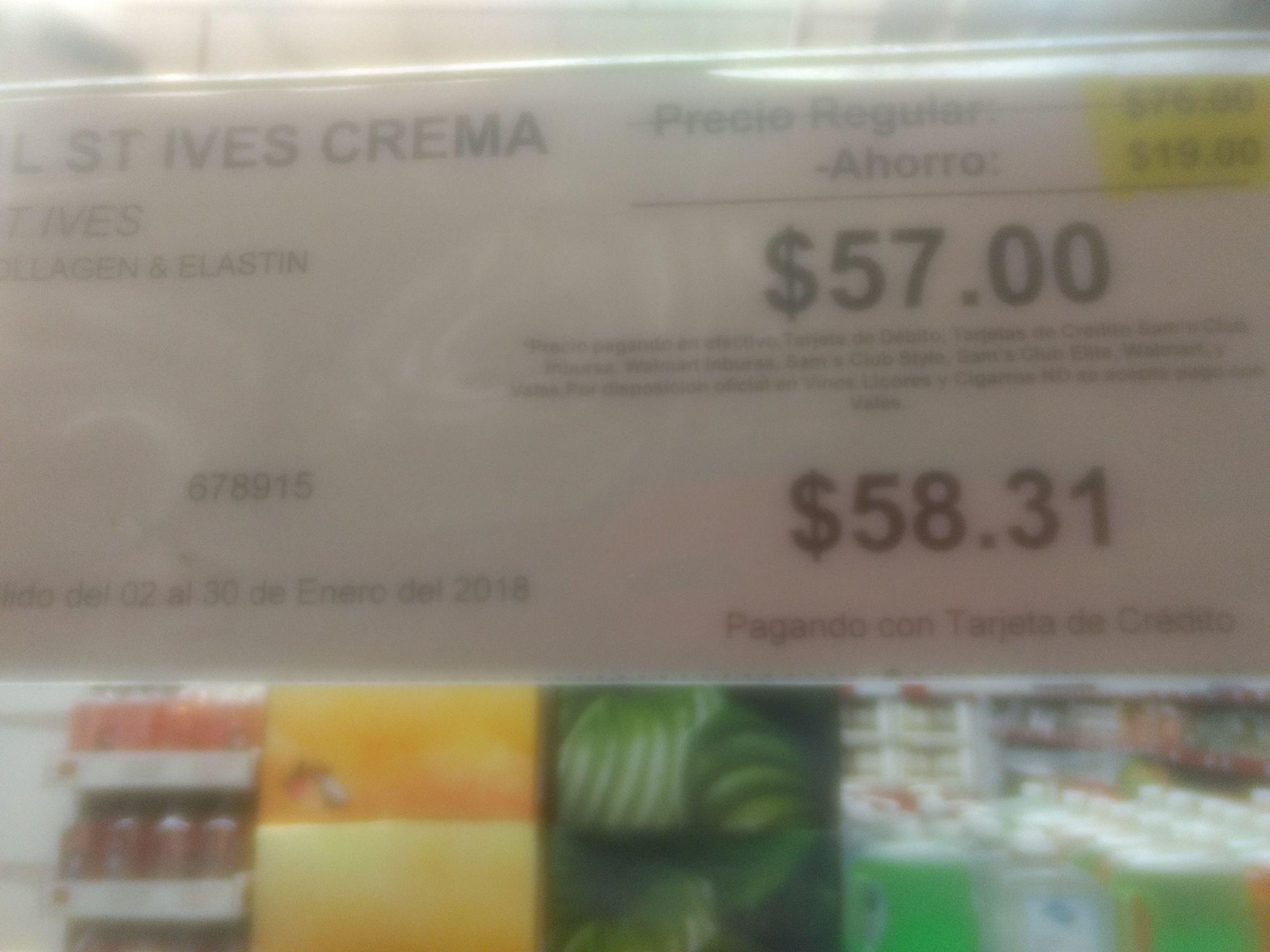 Sam's Club Tuxtepec Oaxaca: Crema st.Vies a $57