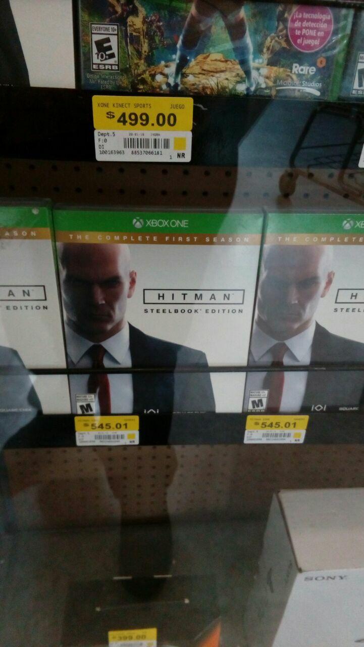 Walmart: Hitman SteelBox Edition para Xbox One a $545.01