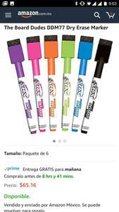 Amazon: Plumón borrable DDM77 Dry Erase Marker