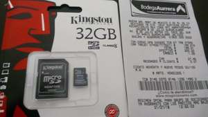 Bodega aurrera 8 de julio gdl. Memoria kingston 32 gb.