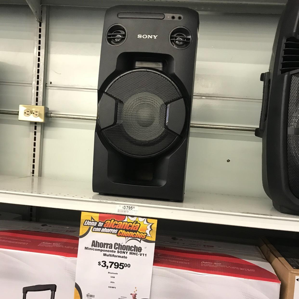 Chedraui: Minicomponente Sony a $3,795