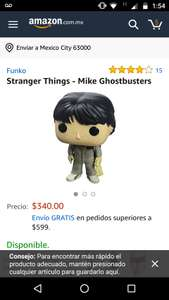 Amazon: muñeco funko pop stranger things Mike Ghostbusters