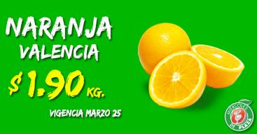 Miércoles de Plaza en La Comer marzo 25: naranja $1.90/Kg y más