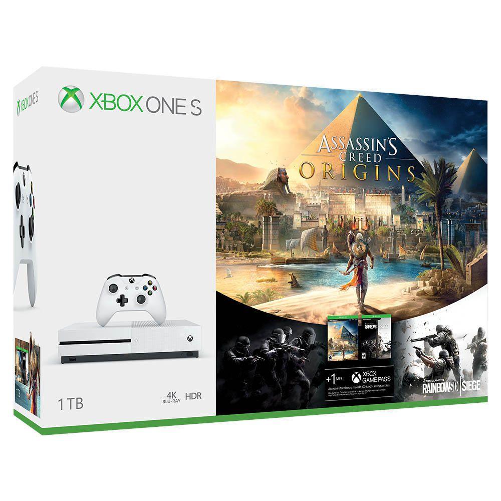Elektra: Consola Xbox One S 1TB + Assassin's Creed Origins y Rainbow Six Siege