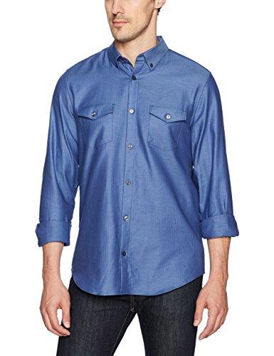 Amazon: Camisa Calvin Klein Herringbone talla M envío gratis prime