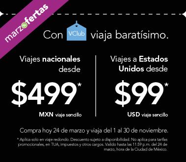 Volaris: desde $499 nacionales y desde $99US a USA con VClub en noviembre