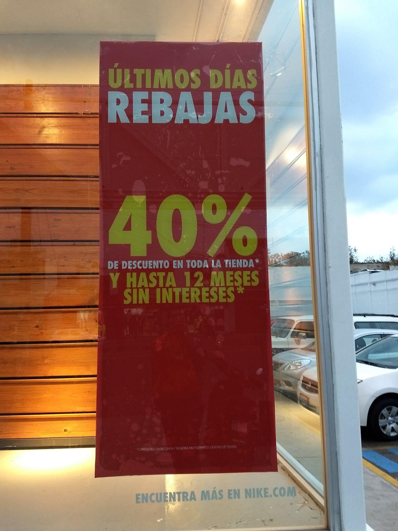 Nike Factory: 40% descuento comprando de 2 en 2 en toda la tienda