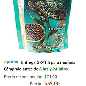 Amazon: Comida para tortuga wardley bolitas 350gr