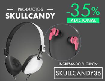 Linio: Cupón 35% de descuento en Audiofonos SKULLCANDY