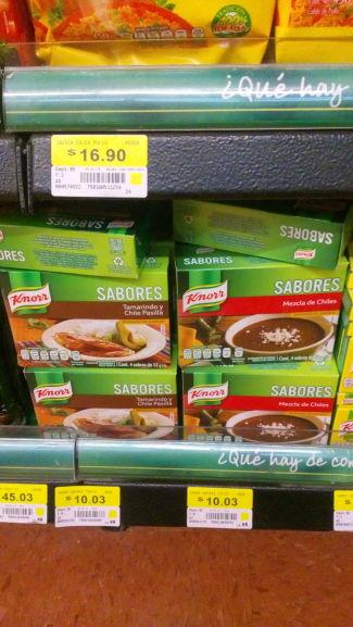 Walmart Santin, Toluca: Knorr y más