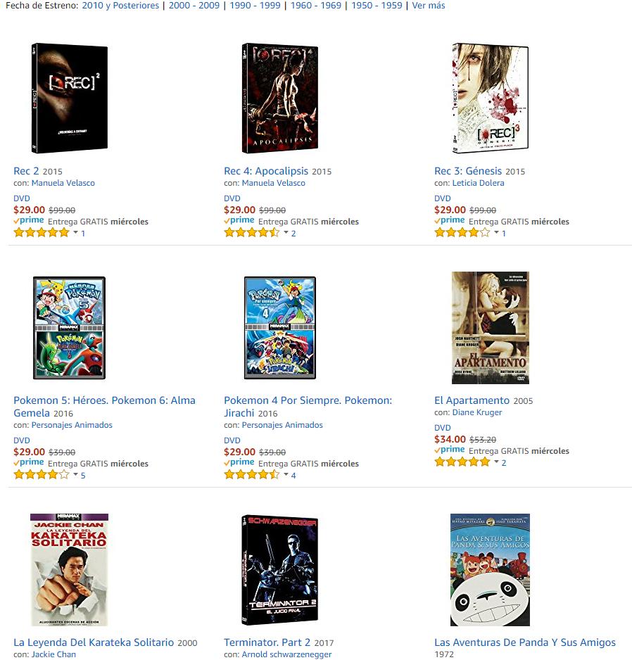 Variedad de Películas en DVD a menos de  $40