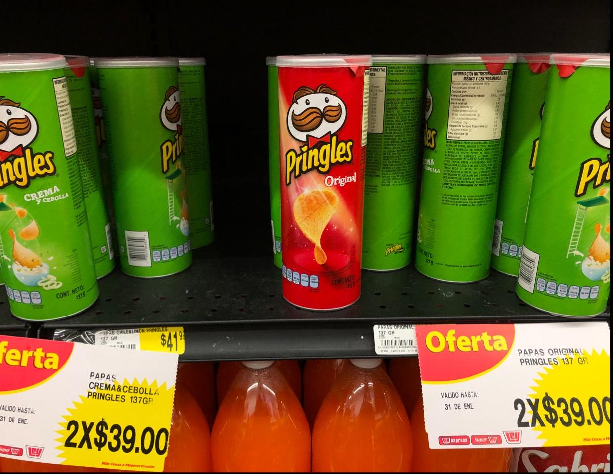 Papas Pringles 2x1 tienda ley sendero