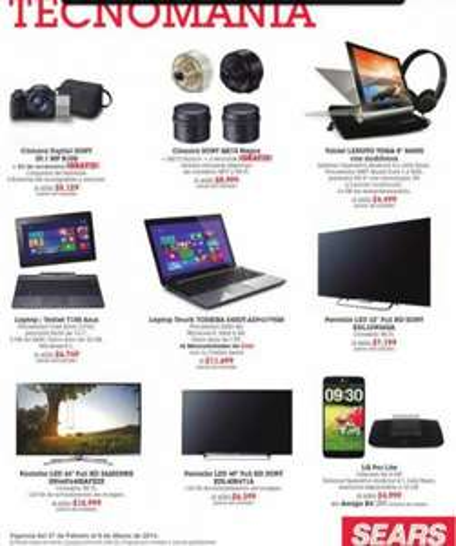 """Sears: videojuegos a $99 con compra, 20% adicional en rebajas, TV LED Sony 40"""" $6,399"""