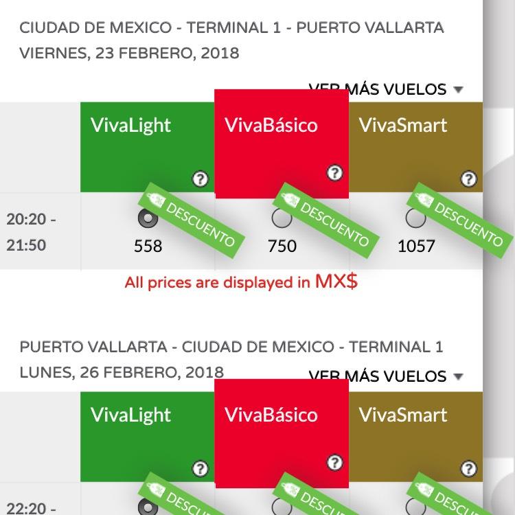 VivaAerobus: viaje redondo a Puerto Vallarta por $1006, saliendo de la CDMX