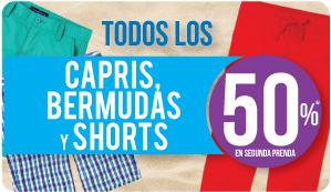 Suburbia: 2x1 y medio en capris, bermudas y shorts