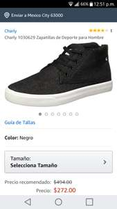 Amazon: Tenis Charly color negro