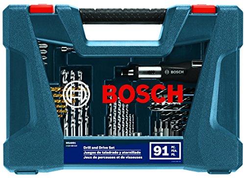 Amazon : Juego de brocas con estuche incluido Bosch con 91 piezas