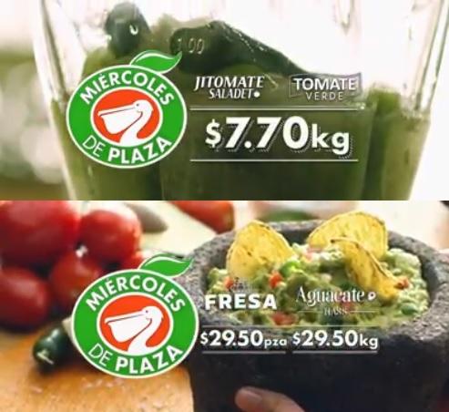 La Comer: Miércoles de Plaza 31 Enero: Jitomate Saladet $7.70 kg... Tomate Verde $7.70 kg... Fresa paq. $29.50 pza... Aguacate Hass $29.50 kg.
