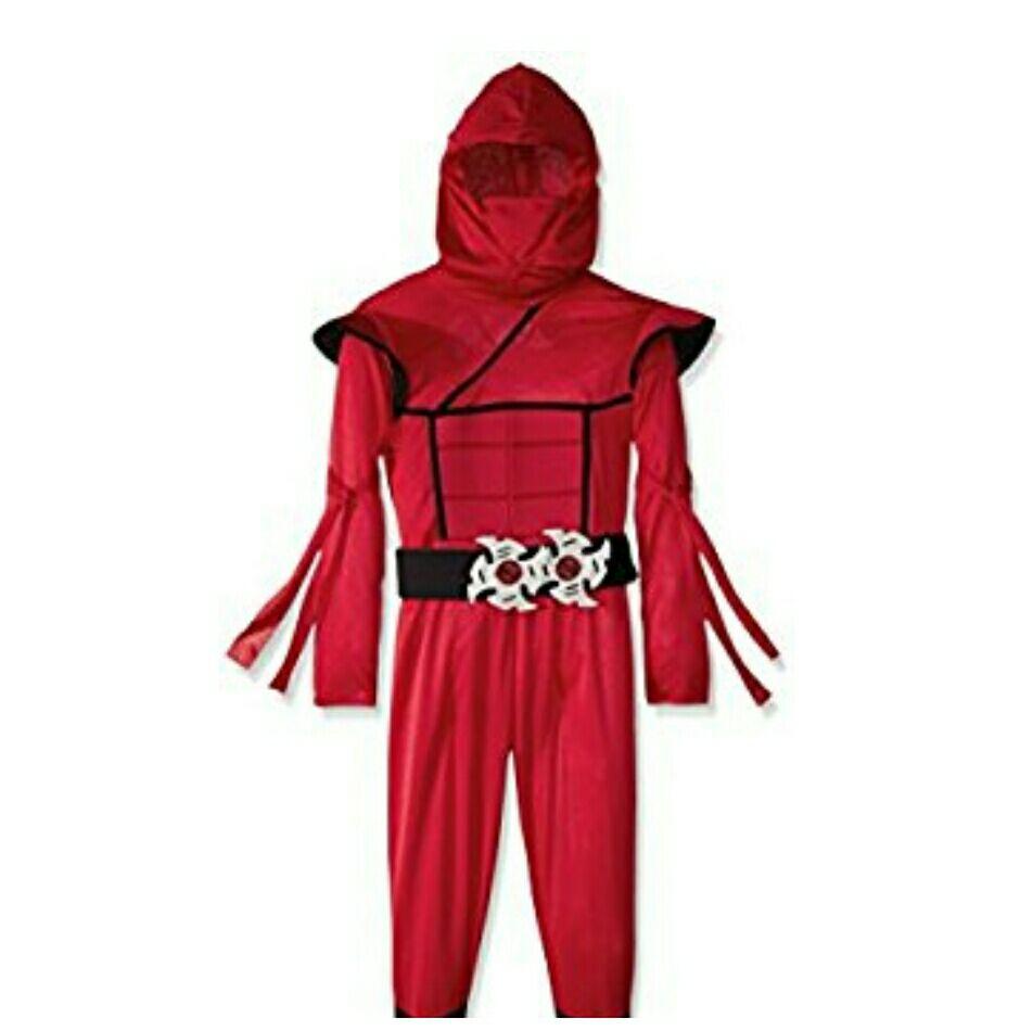 Amazon: Disfraz para niño de Ninja color rojo talla Grande (PRIME).