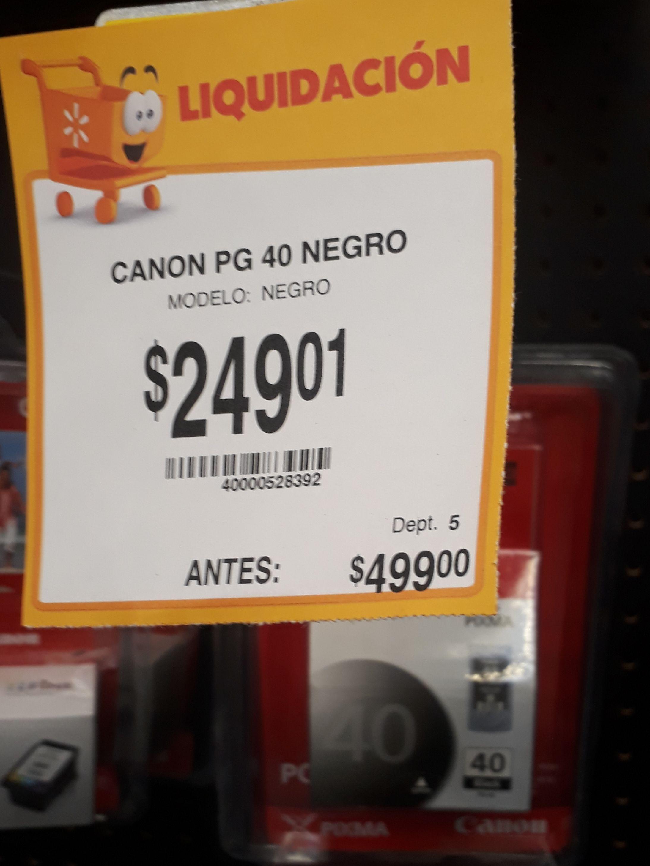 Walmart - Liquidación de tintas canon