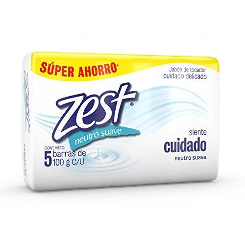 Amazon: Zest Jabón de Tocador, Neutro, 100 gr, Paquete de 5 Piezas