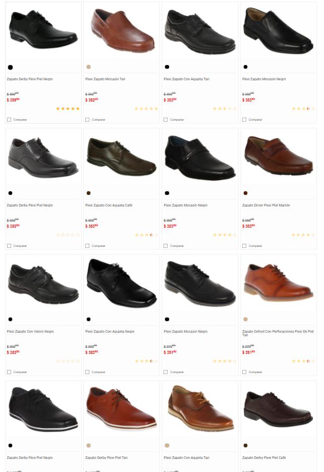 Liverpool: Variedad de Zapatos Flexi tipo Oxford Piel y más desde $359!!